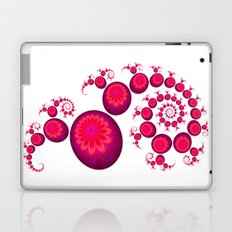 Pretty Pink Paisley on White Laptop & iPad Skin