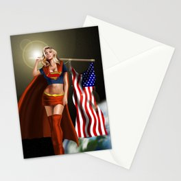 Supergirl in Space Stationery Cards
