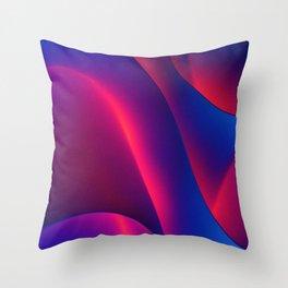 Neon Curves Throw Pillow