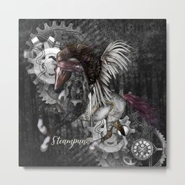 Wonderful steampunk horse with wings Metal Print