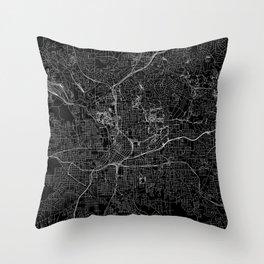 Atlanta Black Map Throw Pillow