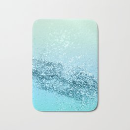 Seafoam Aqua Ocean MERMAID Girls Glitter #3 #shiny #decor #art #society6 Bath Mat