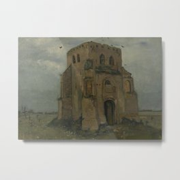 The Old Church Tower at Nuenen Metal Print
