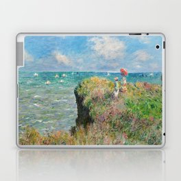 1882-Claude Monet-Cliff Walk at Pourville-66 x 82 Laptop & iPad Skin