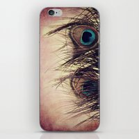 peacock feather iPhone & iPod Skins featuring Peacock Feather by KunstFabrik_StaticMovement Manu Jobst
