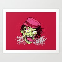 Water Melon Man Art Print
