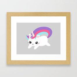 Caticorn Framed Art Print