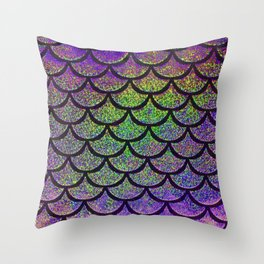 Lavender Lime Scales Throw Pillow