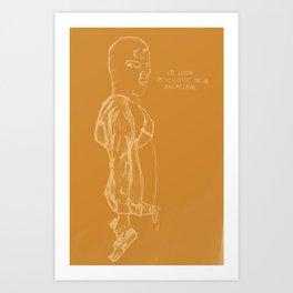 Spring Breakers/Vampire Weekend (Orange) Art Print