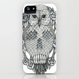 owl&skull iPhone Case