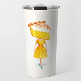 Cake Head Pin-Up - Lemon Travel Mug