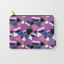 GenderFluid Pride Hearts Carry-All Pouch