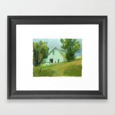 Farm House In Lucknow Ontario Framed Art Print