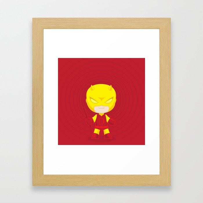 Daredevil Yellow Framed Art Print