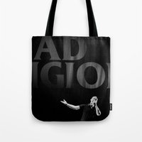 religion Tote Bags featuring bad Religion by David BASSO