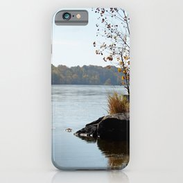 Fall on the River Bank iPhone Case
