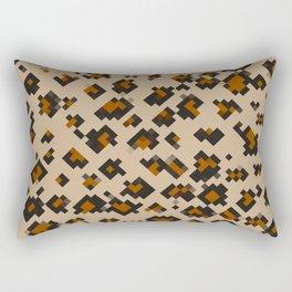 Pixelated Leopard Rectangular Pillow