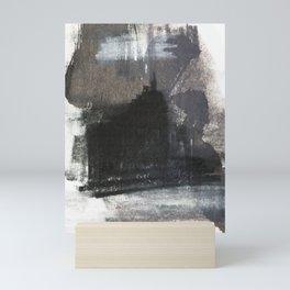 Abstract Texture, Black White & Grey Texture 1 Mini Art Print