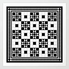 Victorian Floor Tile Pattern #4 Art Print