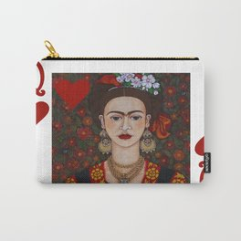 Frida Kahlo, reina de corazones II Carry-All Pouch