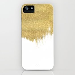 White & Gold iPhone Case