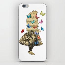 Alice In Wonderland - Vintage Wonderland Book iPhone Skin