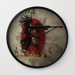 3stars and the rising sun tzu sniper_diva of death Wall Clock