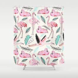 Flamingos Forever Shower Curtain