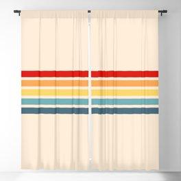 Takaakira - Classic Rainbow Retro Stripes Blackout Curtain