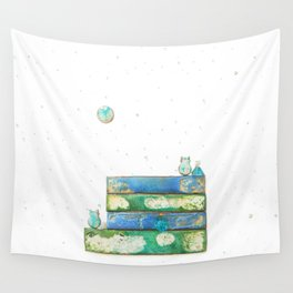 Alley Cats and the Blue Moon Wall Tapestry