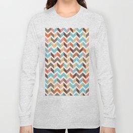 earthly chevron Long Sleeve T-shirt