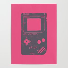Game Boy on pink Poster