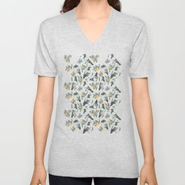 Pigeons, Apricots, and Thyme Unisex V-Neck