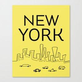 New York scrbbs Canvas Print