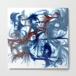 Blue Ribbons Metal Print