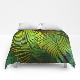 TROPICAL GREENERY LEAVES Comforters