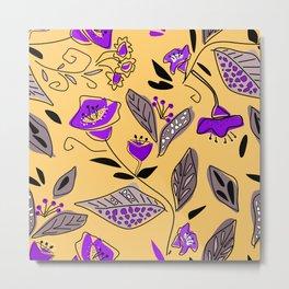 Flower yellow  purple Metal Print
