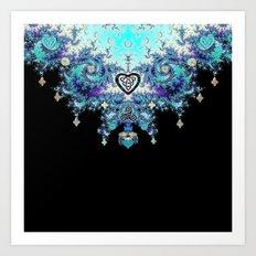Celtic Fractal Celtic Heart Tapestry Art Print
