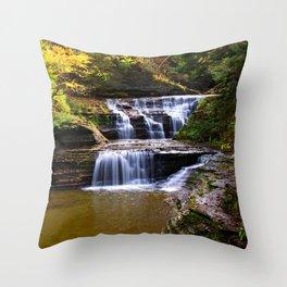 Cascata in autunno Throw Pillow