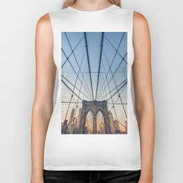 Brooklyn Bridge New York City Biker Tank