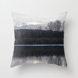 A lake in the mountains Throw Pillow