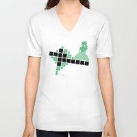 bauhaus V-neck T-shirts featuring Bauhaus Pattern by Addison Karl