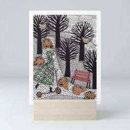 Autumn in the Park Mini Art Print