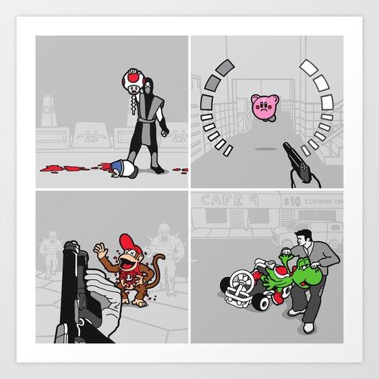 Good Guys In Bad Games Art Print