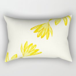 yellow botanical crocus watercolor Rectangular Pillow