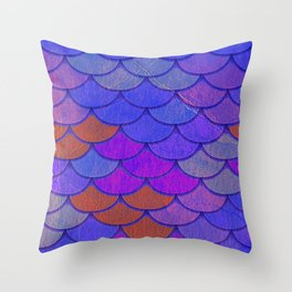 Multicolor Scales Throw Pillow