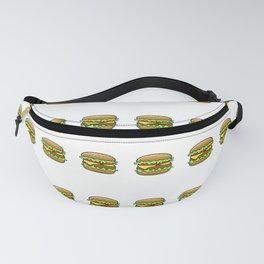 Hamburger Repeat Pattern Fanny Pack