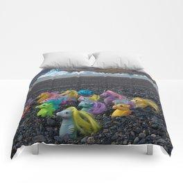 My Little Sea Ponies in Patagonia Comforters