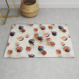 Fresh Figs on Linen Rug