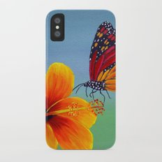 Lily with Butterfly iPhone X Slim Case